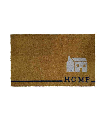In the Garden Tufted Coir Mat-Home on Natural