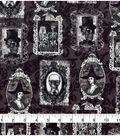Halloween Cotton Fabric 43\u0022-Vintage Skeleton Portraits