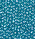 Quilter\u0027s Showcase Cotton Fabric -Daisy on Turquoise