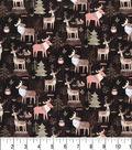 Premium Cotton Fabric 43\u0022-Woodland Moose & Friends