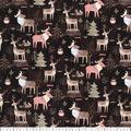 Premium Cotton Fabric-Woodland Moose & Friends