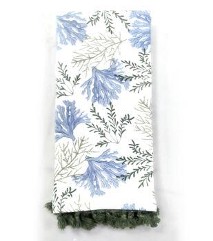 Indigo Mist Coral Sea Plant Towel