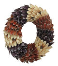 Blooming Autumn Wood Curl Oval Wreath