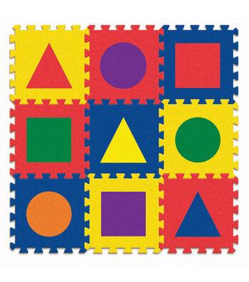 """Carpet Tiles, Shapes, 12"""" x 12"""", 9 Count"""