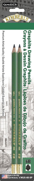 Kimberly Graphite Drawing Pencils 2/Pkg-6B
