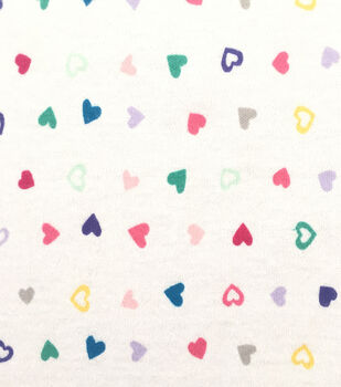 Doodles Juvenile Apparel Fabric -Tiny Tossed Hearts