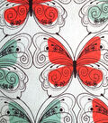 Snuggle Flannel Fabric -Stenciled Butterflies