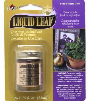 Liquid Leaf One-Step Leafing Paint .75oz-Classic Gold
