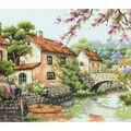 Dimensions 13\u0027\u0027x10\u0027\u0027 Counted Cross Stitch Kit-Village Canal