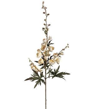"""Bloom Room 40.5"""" Princess Delphinium Spray-Vanilla"""