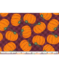 Pumpkins On Plaid Maroon