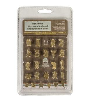 Walnut Hollow Hot Stamps Number & Symbol Set 24 pcs