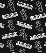 "Chicago White Sox Cotton Fabric 58""-Black, , hi-res"