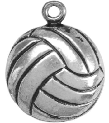 Metal Charms-Volleyball 12/pk