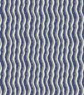 Christmas Cotton Fabric-Blue Wavy Stripes
