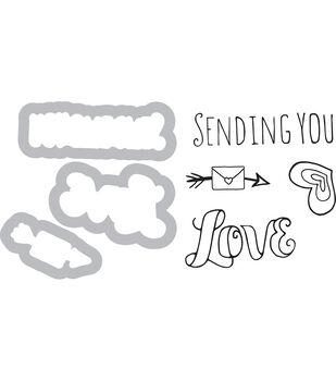 Sizzix Framelits Katelyn Lizardi Die & Stamp Set-Sending You Love