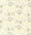 Christmas Cotton Fabric-Metallic Prancing Reindeer
