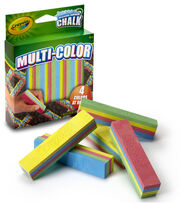 Crayola Multicolor Washable Sidewalk Chalk 5/Pkg, , hi-res