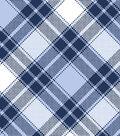 Blizzard Fleece Fabric -Annie Plaid Blue