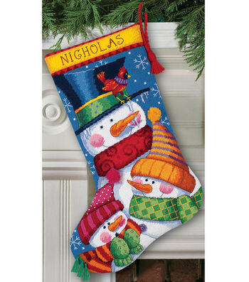 "Dimensions 16"" Needlepoint Kit-Freezin' Season"