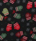 Christmas Cotton Fabric-Stitched Mittens