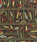 Novelty Cotton Fabric -Fishing Lures
