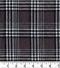 Flannel Shirting Fabric 41\u0022-Grey Black White