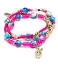 LaurDIY Mini DIY Peace Stretch Bracelet Kit-Pink & Blue