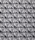 Novelty Cotton Fabric-Jungle Animals Black & White