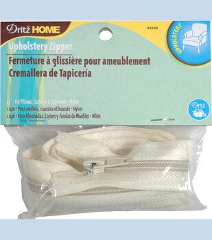 Dritz Home Nylon Home Decor Zipper Cream 45''