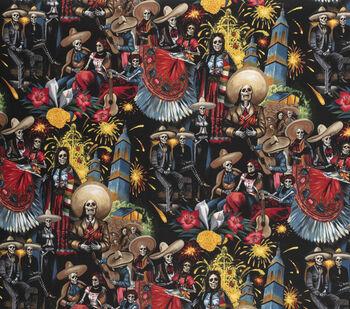 Halloween Cotton Fabric-Fiesta De San Marcos