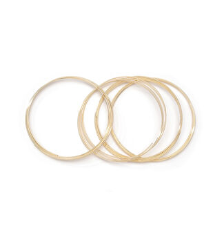 Jewelry Making Gold Plated Memory Wire, Bracelet Coil