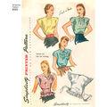 Simplicity Pattern 8593 Misses\u0027 Vintage Poncho Blouses-Size A (S-M-L)