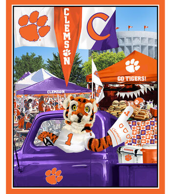 "Clemson Tigers Cotton Panel 36""-Tailgate"