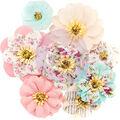 Prima Marketing Misty Rose Fabric Flowers 8/Pkg-Earleen