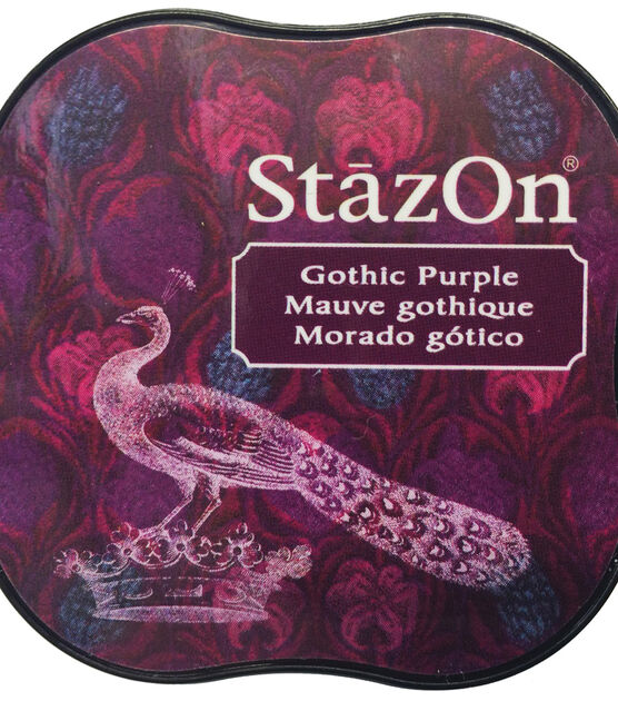Imagine Crafts StazOn Solvent Ink Pad-Midnight Blue