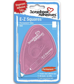 Scrapbook Adhesives E-Z Square Tabs 650/Pkg-Permanent