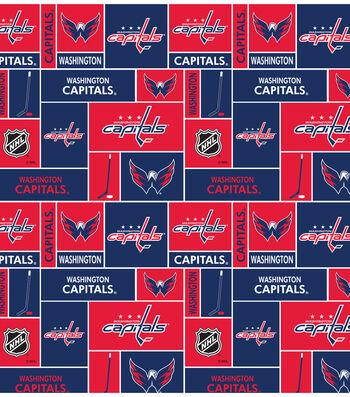 Washington Capitals Cotton Fabric -Black