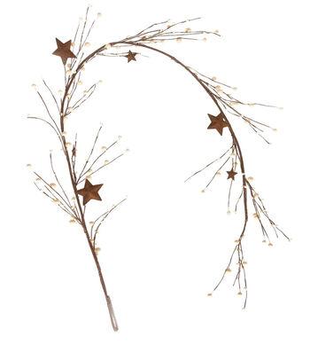 Blooming Autumn 66'' Berry & Barn Star Garland-White
