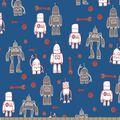 Robot Gears Print Fabric