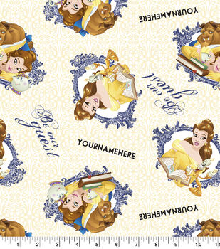 Disney Beauty & the Beast Print Fabric by Springs Creative-Be Our Guest
