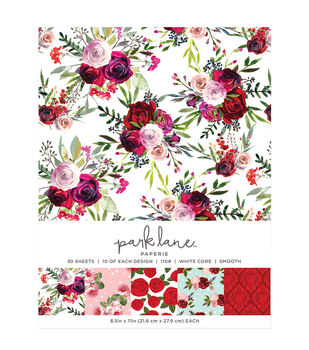 Park Lane 50 pk 8.5''x11'' Value Papers-Roses