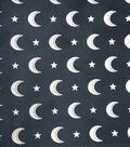 The Witching Hour Halloween Fabric 57\u0022-Foiled Moons Sheer