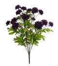 Blooming Autumn Gomphrena Bush-Purple