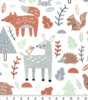 Nursery Flannel Fabric-Woodland All Over