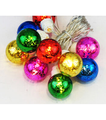 Maker's Holiday Christmas 10 ct Small Multicolored Mercury String Lights