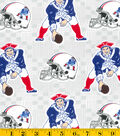 New England Patriots Cotton Fabric -Retro Gray