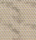 Vintage Cotton Fabric 43\u0022-Floral Scallops Tan