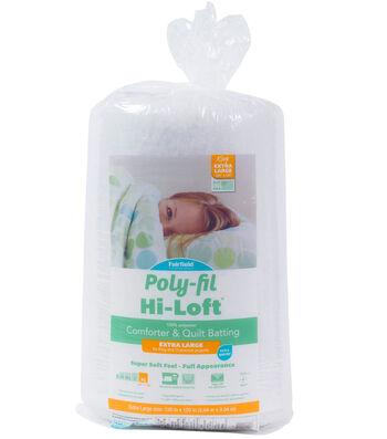 "Poly-Fil Hi-Loft King Size 120""x120"" 100% Bonded Polyester Batting"