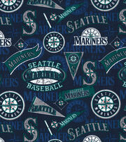 Seattle Mariners Cotton Fabric -Vintage, , hi-res